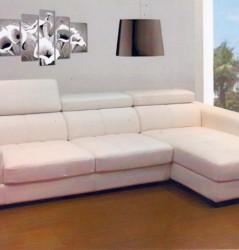 מערכת ישיבה מעור- צבע לבן