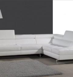 מערכת ישיבה לבנה מעור
