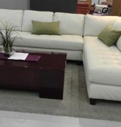 מערכת ישיבה מעור ספה פינתית דגם U013
